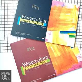Arto A4 100% Cotton Watercolor PaintingPad 1PCS - 210 x 297mm 12s [200/300gsm]