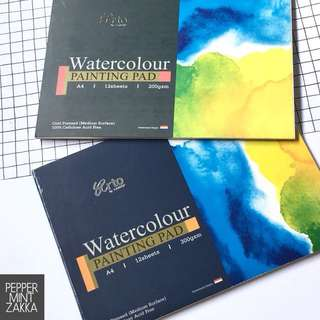 Arto A4 100% Cellulose Watercolor PaintingPad 1PCS - 210x297mm 12s [200/300gsm]