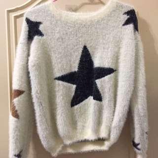 針織星星毛衣