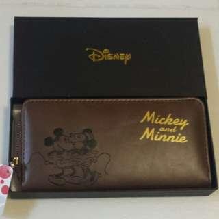 Japan Disney Long Wallet Mickey & Minnie Mouse