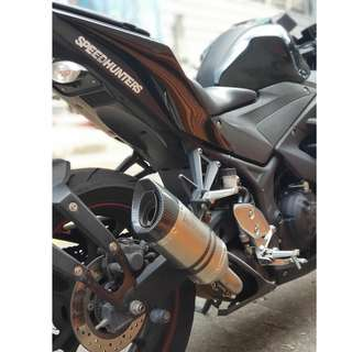 SBK LEOVINCE ONE EVO (STAINLESS STEEL) installed on YAMAHA YZF R3
