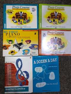 Used piano prep course books