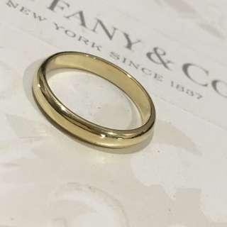 Mint Tiffany & Co Gold YG Lucida Classic Wedding Band Ring 18k 3mm #6.75
