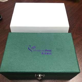 水晶 手機座 卡片座 記念品 精品 擺設 「同郵香港20年」 香港特別行政區成立20周年 郵票