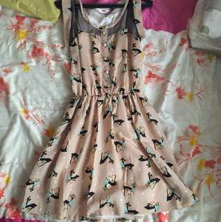 Garterised Sleeveless Dress