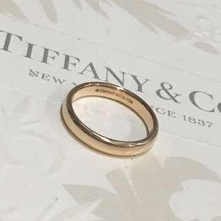 Mint Tiffany & Co Rose Gold RG Lucida Classic Wedding Band Ring 18k #4.75