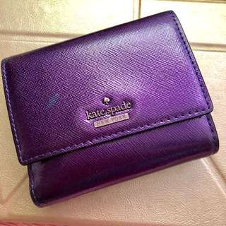 Kate Spade Sparkling Purple Short Wallet 閃紫短銀包