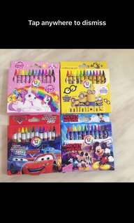 Goodies bag - cartoon crayon