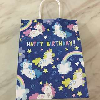 Goodies bag- paper bag (unicorn)