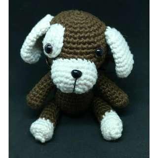 Boneka Rajut Amigurumi Anjing
