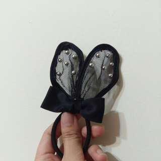 🚚 立起兔子耳朵蝴蝶結髮束