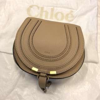 正Chloe Marcie 小款 咖啡色(mini)肩背包斜背包 (近全新