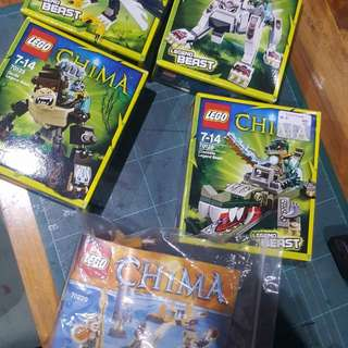 Lego chima sets - set of 5