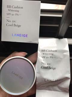 Laneige BB Cushion Whitening No. 21C Cool Beige