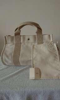 Hermes 減價 Canvas Bag Silk Lindy Kelly