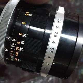 Canon FL 50mm f1.4 鏡頭 底片 單眼相機