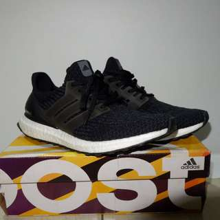 Adidas Ultra Boost 3.0 Black White UA