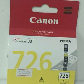 Genuine CLI-726Y Canon Ink Cartridge Pixma