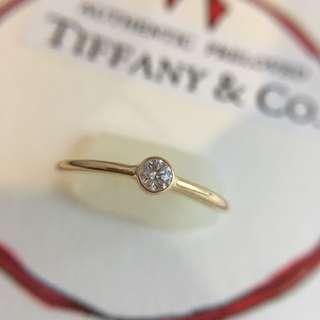 Mint Tiffany & Co. Elsa Peretti Wave Single Row Diamond Ring Gold 750 Size #5