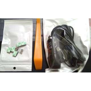 Mini USB Car Cam / GPS Power Adapter With USB Port