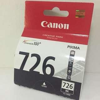 Genuine CLI-726BK Canon Ink Cartridge Pixma