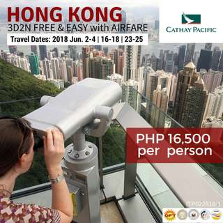 Hong Kong Free & Easy with Round-trip Airfare via Cathay Pacific