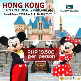 Hong Kong with Free Disneyland & Round-trip Airfare via Cathay Pacific