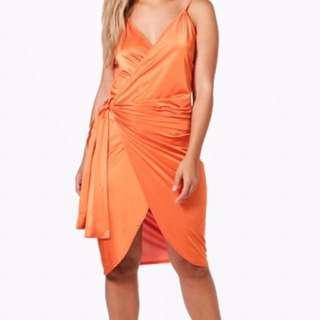 Slinky Wrap Dress (plus Size)
