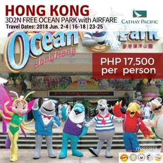 Hong Kong with Ocean Park & Round-trip Airfare via Cathay Pacific