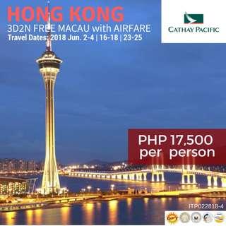 Hong Kong with Free Macau & Round-trip International Airfare via Cathay Pacific