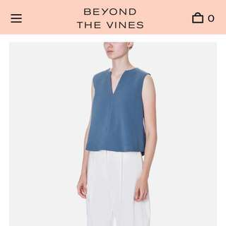 BN (without tag) Beyond The Vines Crepe Boxy Top