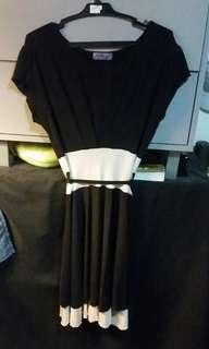 Black graduation semi formal dress