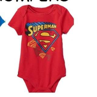 Baby rompers superman in red children clothes baby toddler 12mths up