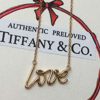 Mint Authentic Tiffany & Co. Paloma Picasso Graffiti Love 18k Rose Gold Necklace