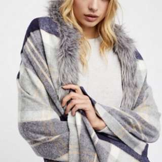 Free People Countryside Luxe Plaid Scarf