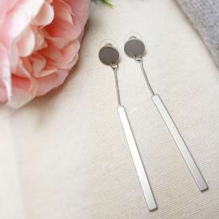 Minimalist silver korean earrings