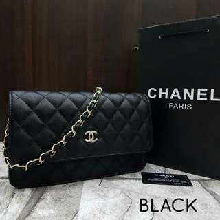 Chanel WOC Black Caviar