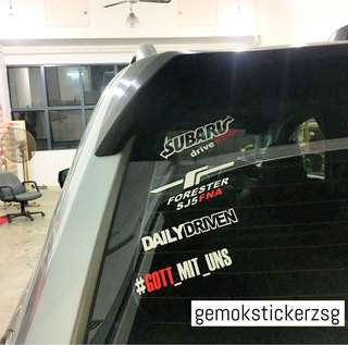 CAR CUSTOMISE DECAL