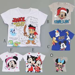 CHILDREN CLOTHES JAKE MICKEY MOUSE, MINNIE MOUSE SHIRT TOP CLOTHES
