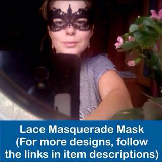 Lace Masquerade Mask design as per cover photo [for Prom Night, Wedding, Fashion Shows, Costume, Dance Party, Mask Events uncle.anthony uncle anthony uac ] FOR MORE PHOTOS & DETAILS, GO HERE: 👉 http://carousell.com/p/143285944