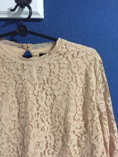 H&M Lace Blouse 3/4 Sleeves