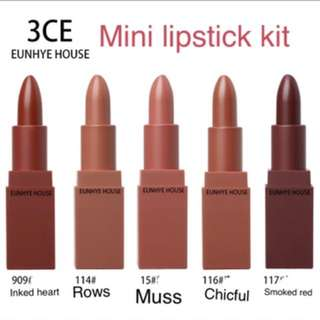 3ce MINI PUMPKIN LIPSTICK SET KIT
