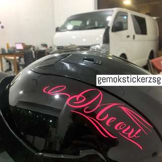 HELMET DECAL