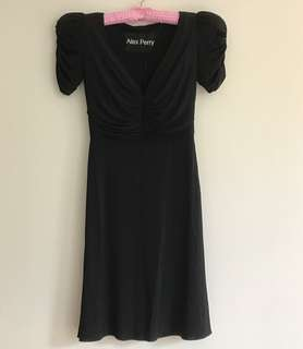Alex Perry Paige V-Neck Jersey Black Dress