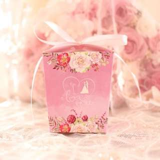 Floral Wedding Theme Door Gift Favors Box