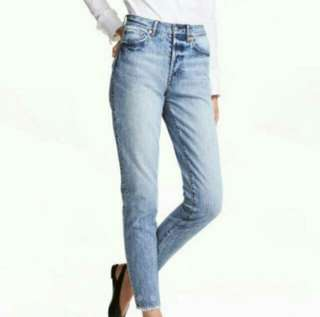 H&M Highwaisted Boyfriend Jeans