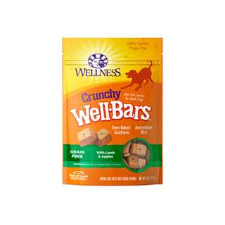 WELLNESS – WELLBARS OVEN-BAKED BISCUITS DOG SNACKS LAMB & APPLES 8OZ