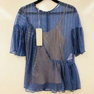 New Stella mccartney blue top size 36