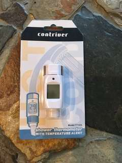 Shower water digital thermometer