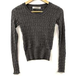 Miu miu gray wool top size 38